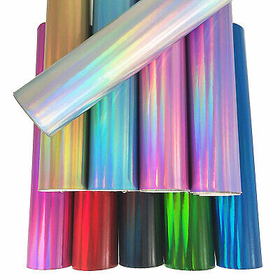 Holographic Mirror Vinyl Leatherette Fabric Sheet Iridescent Faux Leather Craft