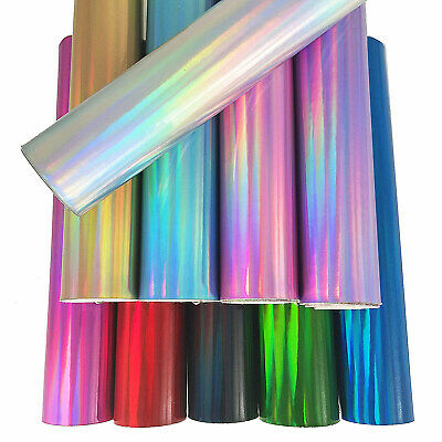 Metallic Hologram Mirrored Faux Vinyl Fabric Holographic Leather Craft Material