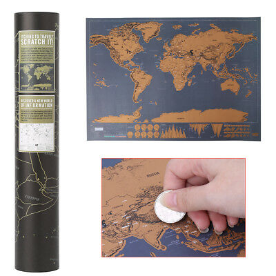 Deluxe World Map Poster Traveler Vacation Log Personalized Travel Vacation Map
