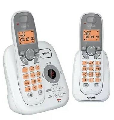 Brand New Cordless VTech 15250 TWIN DECT Cordless White Wifi Desk Wall-Free Post