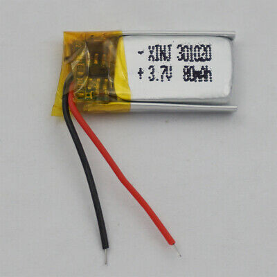 3.7V 100 mAh Li Polymer Li Battery For Mp3 bluetooth glasses pen Sat Nav  301020