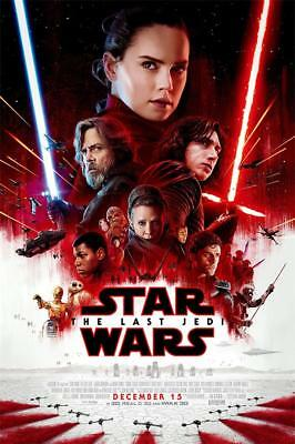 "Star Wars The Last Jedi VIII Movie Poster 18x12 36x24 40x27""Decor Art"