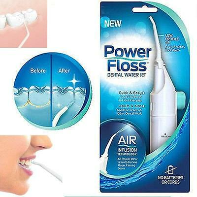 Hot Useful Power Floss Dental Water Jet on TV Cords Tooth Pick Braces NO Battery