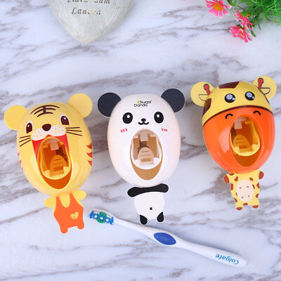 Squeezing Holder Automatic Toothpaste Dispenser Colorful 6 Pattern Accessories