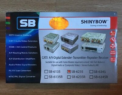 Shinybow SB-6235 CAT5 A/V- Digital Extender-transmitter-repeater-receiver