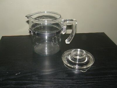 Vintage Pyrex USA Coffee Pot & Lid  Only 7824B 4 Cup