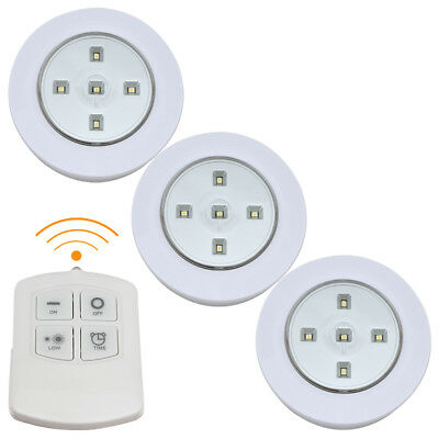 3, 6 & 9 Pc Wireless Remote Control Battery Operated Under Cabinet Smd Led Light