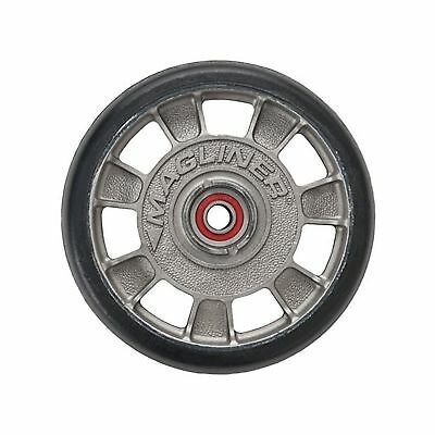 "Magline 10815 8"" Diameter Mold On Rubber Wheel with Red Sealed Semi Precision..."