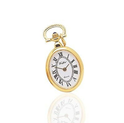 """Classical Ladies Oval Fob Watch Pendant & 28"""" Chain. Woodford."""