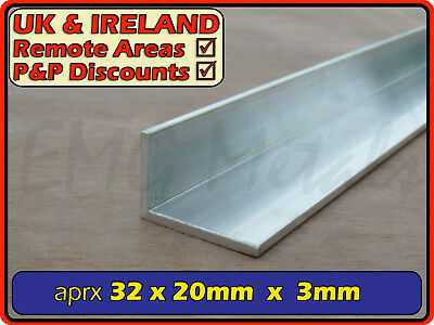 "Aluminium Angle (L section, edging, bracket, ally, alloy, trim) | 1.25"" x 0.75"""