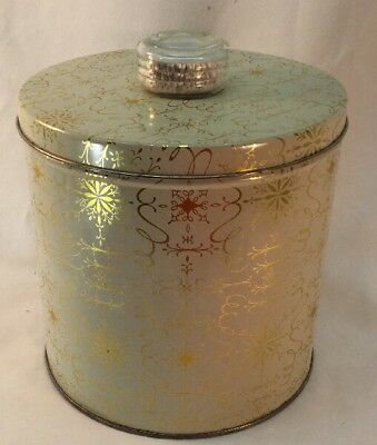 Blue Magic Cracker Krispy Kan 1940's Mid-century Kitchen Canister  Vintage