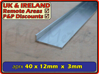 "Aluminium Angle (L section, edging, bracket, ally, alloy, trim) | 1.5"" x 0.5"""