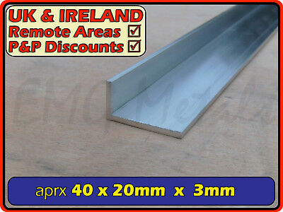 "Aluminium Angle (L section, edging, bracket, ally, alloy, trim) | 1.5"" x 0.75"""