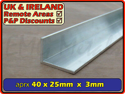 "Aluminium Angle (L section, edging, bracket, ally, alloy, trim) | 1.5"" x 1"""