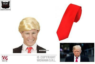 President Donald Trump Wig Tie Funny Republican Party Fancy Dress Costume Deluxe