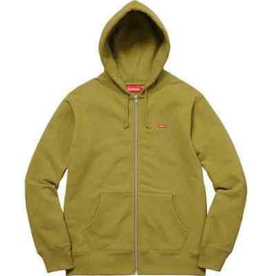 03dd0032 NEW Supreme New York Small Box Logo Zip Up Hoodie - Moss Green Men's Large