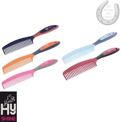 HySHINE Pro Groom Comb – 5 colours – Grooming Kit – Soft Touch – FREE P&P