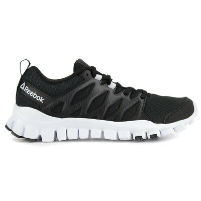 Reebok Women s Realflex Train 4.0 Black Coal White Training Shoes BS8170  NEW! b7bd73d1e