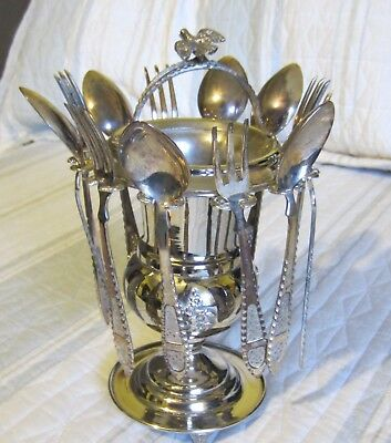 Antique Continental Silver Dessert Set Including Forks And Spoons