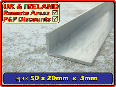 "Aluminium Angle (L section, edging, bracket, ally, alloy, trim) | 2"" x 3/4"""