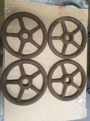 Cast Iron Hand Wheel, Industrial Decor Art, lot of one wheel