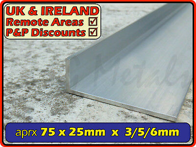 "Aluminium Angle (L section, edging, bracket, trim, ally, alloy) | 3"" x 1"""