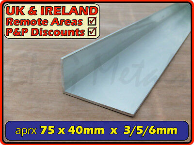 "Aluminium Angle (L section, edging, bracket, trim, ally, alloy) | 3"" x 1.5"""