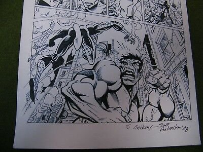 Original Art Spider-man Hulk Iron Man Page
