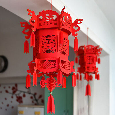 Chinese Wedding Double Happiness 3D lantern fabric lantern Wedding decor