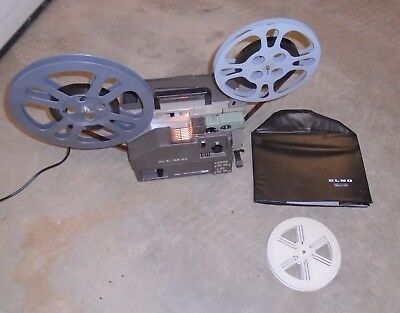 Elmo 16-AL 16mm Projector manual Cover take-up reel WORKS