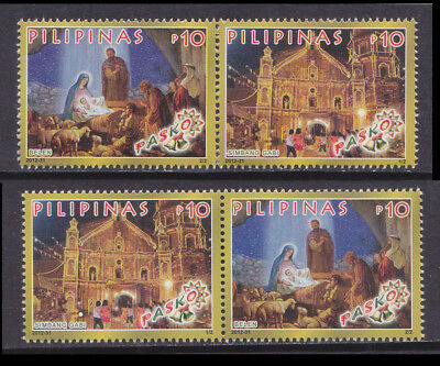 Philippines Stamps 2012 MNH Christmas Mass & Nativity complete sets, 2 formats