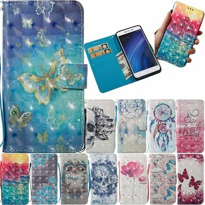 For Xiaomi Redmi 4A 5A Note 4X Flip Leather Stand Card Holder Wallet Case Cover