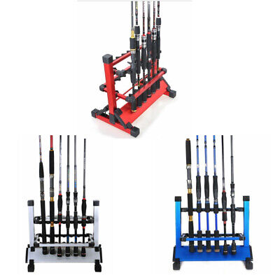 Fishing Rod Rack Aluminum 12 Rod Holder Rests For All Type Of Fishing Rod Combo