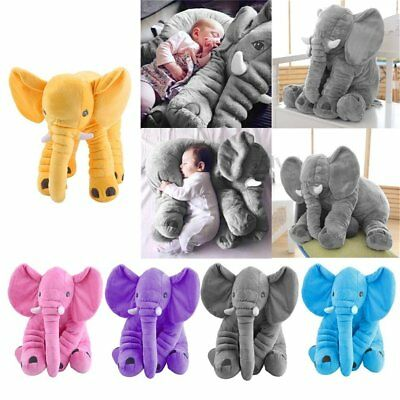 Big Elephant Pillow Cushion Stuffed Doll Toy Baby Kids Soft Plush Lumbar Nose WP