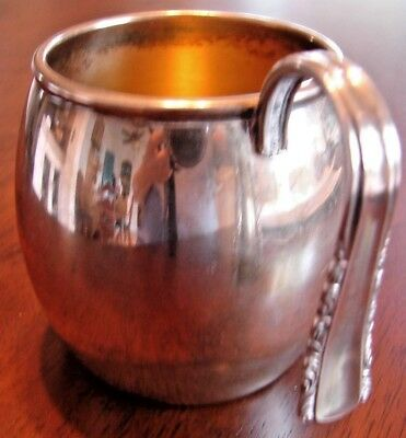 """Vtg. Silverplate Baby Cup """"may Queen"""" Deep Silver Holmes And Edwards 1938"""