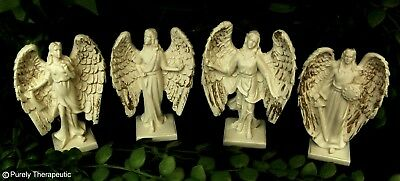 SET 4 ARCHANGEL FIGURINES 9cm~Guardian Statue Sculpture Angel Michael Raphael