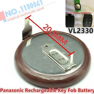Button Coin Battery For Land Rover Range Rover Key Fob VL2330 Rechargeable