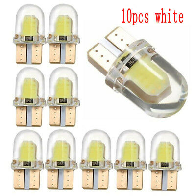 10pcs White T10 194 W5W COB LED Car License Plate Dome Map Light Bulb Small ky