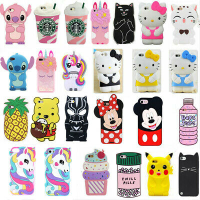 3D Cartoon Soft Silicone Cases Cover For iPod Touch 7 6 iPhone XS MAX 8 7 6 Plus