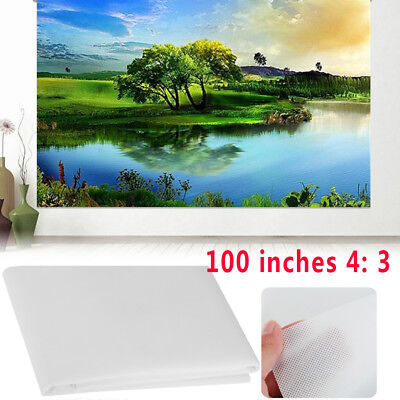 4:3 100 Inch Portable Soft Projection Screen Projection Curtain Flexible Home