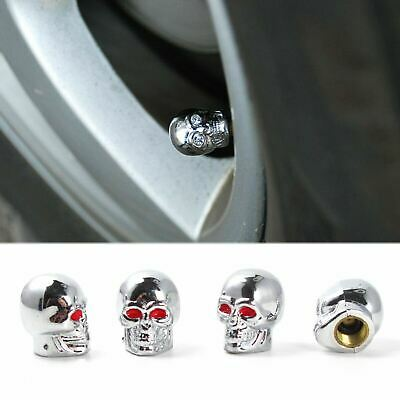 4x Luxury Eyes Skull Tyre Tire Air Valve Stem Dust Cap For Car Bike Truck Trend