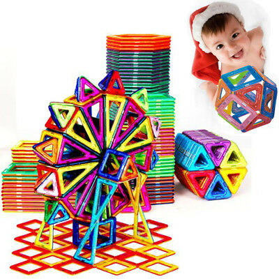 166PCS Construction Model Magnetic Car DIY Building Blocks Kids Educational Toys