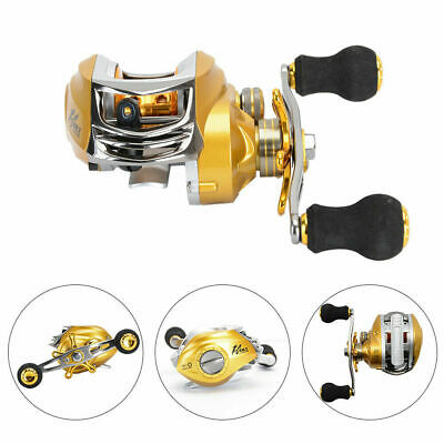 Gold Fishing Baitcasting Reel Magnetic Brake 19BB Big Saltwater Baitcaster Wheel