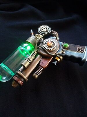 STEAMPUNK gun nautical, modified toy, cosplay / display, working light G0008