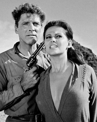 Claudia Cardinale and Burt Lancaster UNSIGNED photo - K9169 - The Professionals