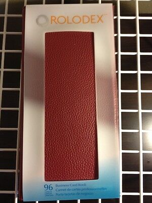 Rolodex Business Card Book Professional Organizer Holds 96 Maroon/Red #76651