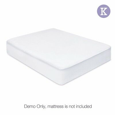 Fully Fitted Waterproof Mattress Protector Non Woven King Single Cover #CT
