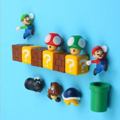 DIY SUPER MARIO Anime action figure Magnet puzzle Magnetic toys Free combination