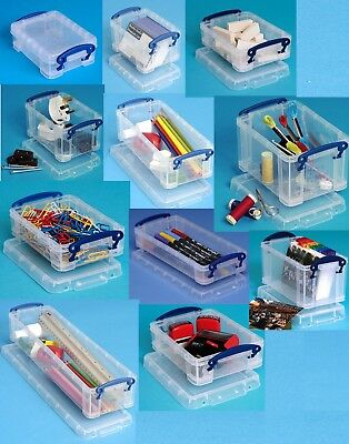 0.2 Litre-4 Litre Multi-Pack Really Useful Boxes Small Clear Lidded Storage Box  sc 1 st  PicClick UK & 18 LITRE-84 LITRE Multi-Pack Really Useful Boxes Large Clear Lidded ...