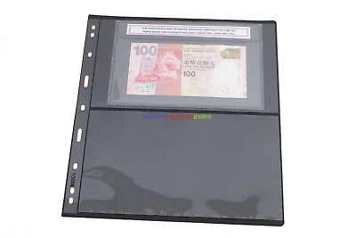 10 Sheets Banknotes Storage Pages Double Sided (2 Strips) For Graded PMG Notes
